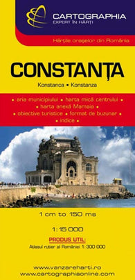Buy map Constanta, Bulgaria by Cartographia