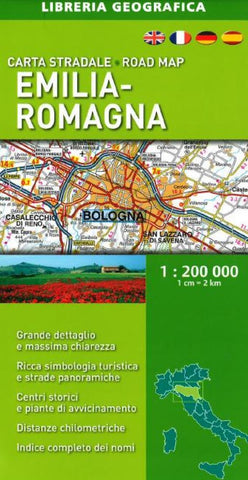 Buy map Emilia-Romagna, Italy, Road Map by Libreria Geografica