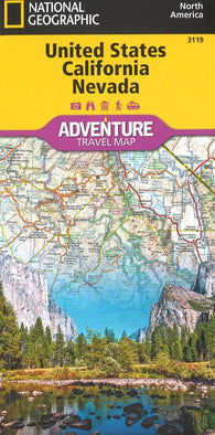 Buy map U.S. California, Nevada Adventure Map (3119) by National Geographic Maps