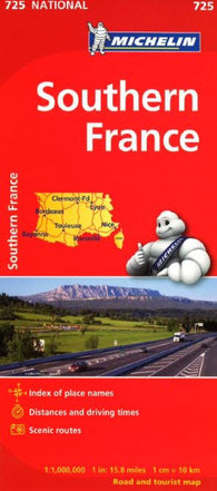 Buy map France, Southern (725) by Michelin Maps and Guides