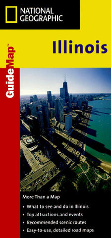 Buy map Illinois GuideMap by National Geographic Maps