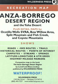 Buy map Anza-Borrego Desert State Park, California by Wilderness Press