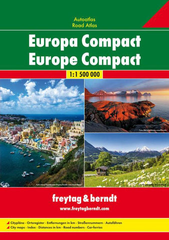 Buy map Europe, Compact Road Atlas, softcover by Freytag-Berndt und Artaria