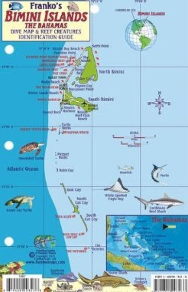 Buy map Bahamas Fish Card, Bimini Islands 2010 by Frankos Maps Ltd.
