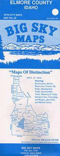Buy map Elmore County, Idaho by Big Sky Maps