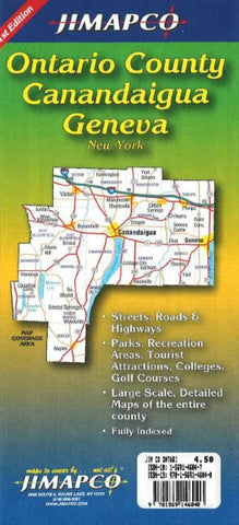 Buy map Ontario County, New York by Jimapco
