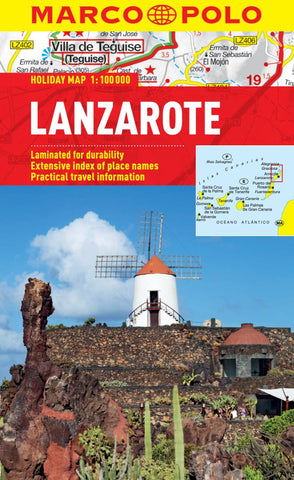Buy map Lanzarote, Spain by Marco Polo Travel Publishing Ltd