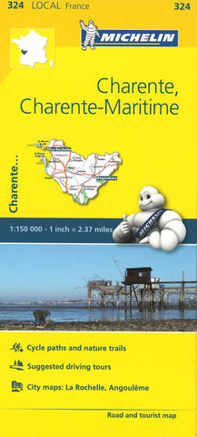 Buy map Michelin: Charente, Charente-Maritime, France Road and Tourist Map by Michelin Travel Partner