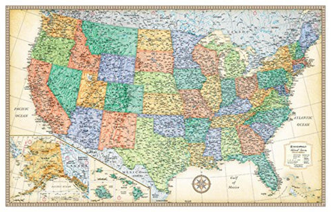 Buy map United States, Classic Series Rolled Laminated Map, Beige by Rand McNally