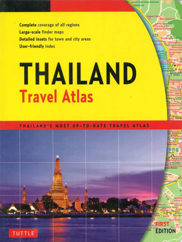 Buy map Thailand Travel Atlas by Tuttle, Periplus Editions