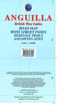Buy map Anguilla, British West Indies, Road Map by Kasprowski Publisher