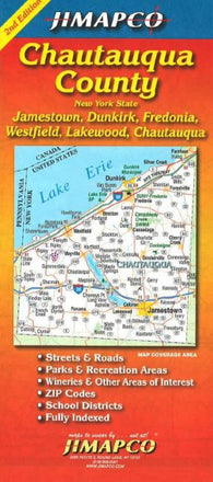 Buy map Chautauqua County, New York by Jimapco