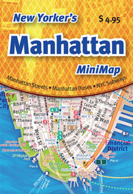 Buy map New Yorkers Manhattan Mini-Map by Opus Publishing