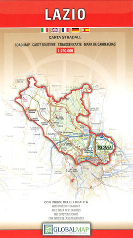 Buy map Lazio, Italy by Litografia Artistica Cartografica