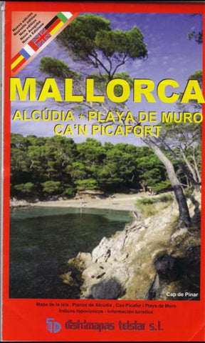 Buy map Majorca, Alcudia and Playa de Muro, Spain by Distrimapas Telstar, S.L.