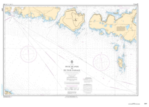 Buy map Duck Islands to Detour Passage by Canadian Hydrographic Service