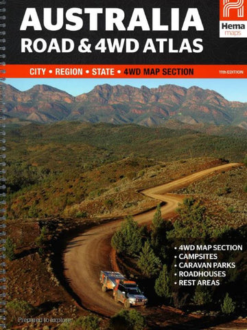 Buy map Australia, Easy Read Road and 4WD Atlas by Hema Maps