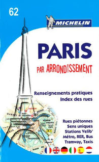 Buy map Paris by Arrondissements (62) by Michelin Maps and Guides