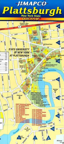 Buy map Plattsburgh, New York, Quickmap by Jimapco