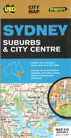 Buy map Sydney, Australia, Suburbs and City Center by Universal Publishers Pty Ltd