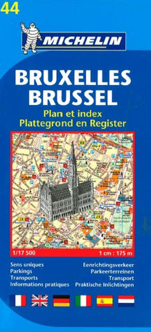 Buy map Brussels, Belgium (44) by Michelin Maps and Guides