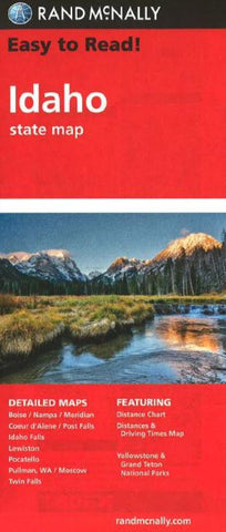 Buy map Idaho by Rand McNally