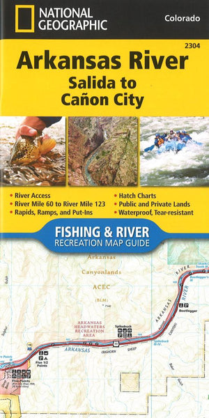 Buy map Arkansas River, Salida to Cañon City, CO (Map 2304) by National Geographic Maps