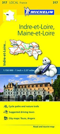 Buy map Indre Et Loire, Maine Et Loire (317) by Michelin Maps and Guides