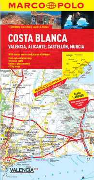 Buy map Costa Blanca, Spain by Marco Polo Travel Publishing Ltd
