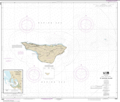Buy map St. George Island, Pribilof Islands (16381-10) by NOAA