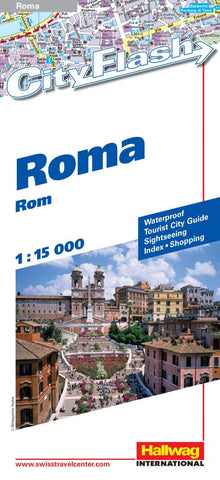 Buy map Rome, Italy City Flash Map by Hallwag
