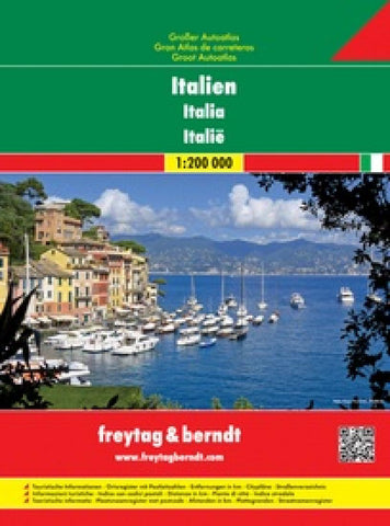 Buy map Italy, Great Road Atlas, Spiral-Bound by Freytag-Berndt und Artaria