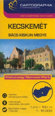 Buy map Kecskemet, Hungary by Cartographia