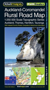 Buy map Auckland-Coromandel, New Zealand, Rural Roads Topographic Map by Kiwi Maps