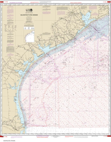 Buy map Galveston to Rio Grande (Oil and Gas Leasing Areas) (1117A-43) by NOAA