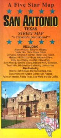 Buy map San Antonio, Texas by Five Star Maps, Inc.