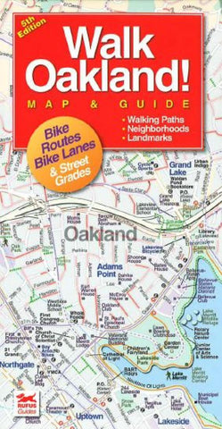 Buy map Oakland, California Walking Map and Guide by Rufus Graphics
