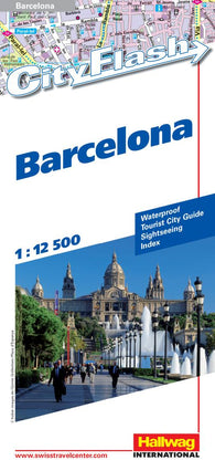 Buy map Barcelona, Spain City Flash Map by Hallwag
