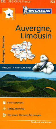 Buy map Auvergne and Limousin (522) by Michelin Maps and Guides
