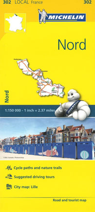 Buy map Michelin: Nord, France Road and Tourist Map by Michelin Travel Partner