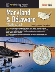 Buy map Maryland & Delaware Travel Atlas by Kappa Map Group