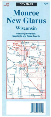 Buy map Monroe-New Glarus, Wisconsin by The Seeger Map Company Inc.