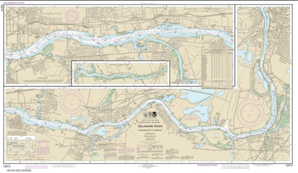 Buy map Delaware River Philadelphia to Trenton (12314-33) by NOAA