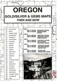 Buy map Oregon, Gold and Gems, 5-Map Set, Then and Now by Northwest Distributors