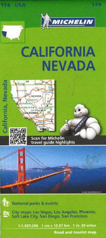 Buy map California and Nevada (174) by Michelin Maps and Guides