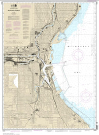 Buy map Milwaukee Harbor (14924-29) by NOAA