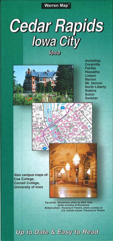 Buy map Cedar Rapids and Iowa City, Iowa by The Seeger Map Company Inc.