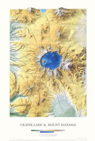 Buy map Crater Lake and Mount Mazama, Laminated Wall Map by Raven Maps