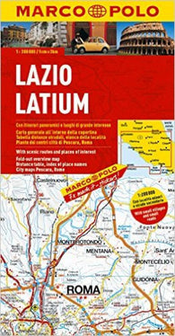 Buy map Lazio, Italy by Marco Polo Travel Publishing Ltd