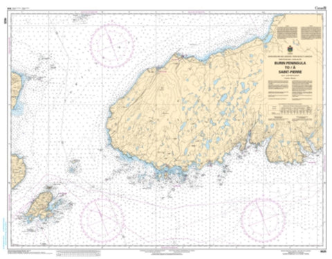 Buy map Burin Peninsula toa SaintPierre by Canadian Hydrographic